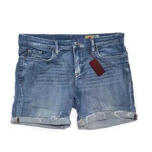 Blank NYC High Waisted Distressed Denim Shorts